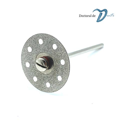 Disc diamantat 2 fete tehnica dentara 22 mm C02