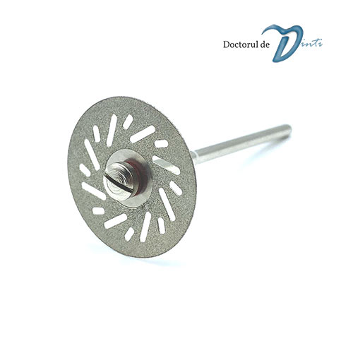 Disc diamantat 2 fete tehnica dentara 22 mm CM06